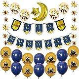 SHINsuke 22Pcs Eid Mubarak Ramadan Balloons Party Supplies Kit Decoration Kareem Eid Muslim Ruzi Lesser Bairam Moon Star Bann