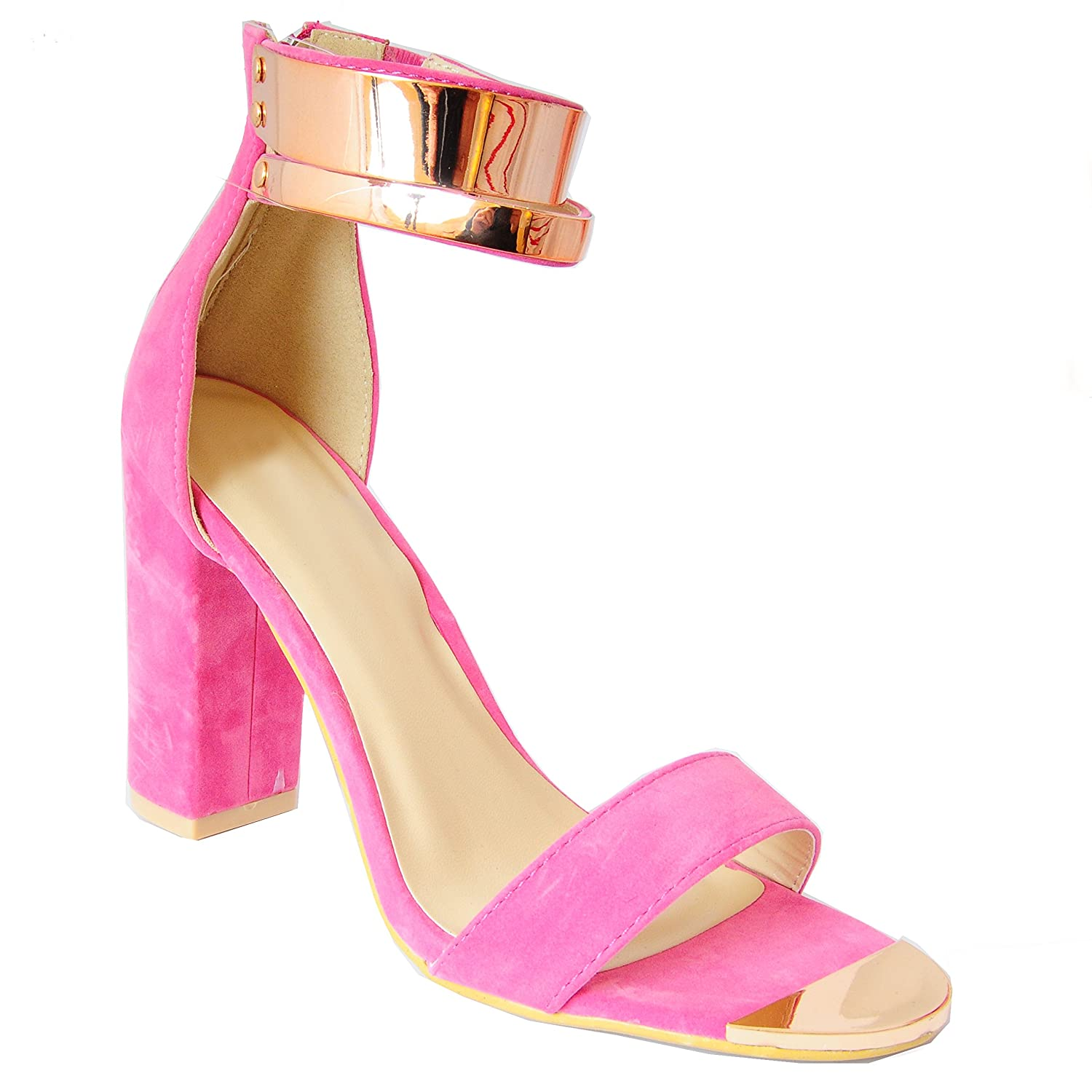 Pink And Gold High Heels