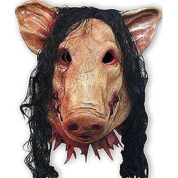 NET TOYS Maschera da maiale che copre metà volto travestimento ... 2a3d5f03859