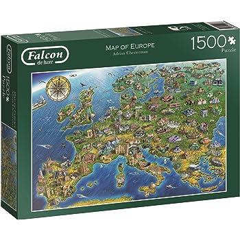 Falcon De Luxe 11057 Map Of Europe Jigsaw Puzzle 1500 Pieces