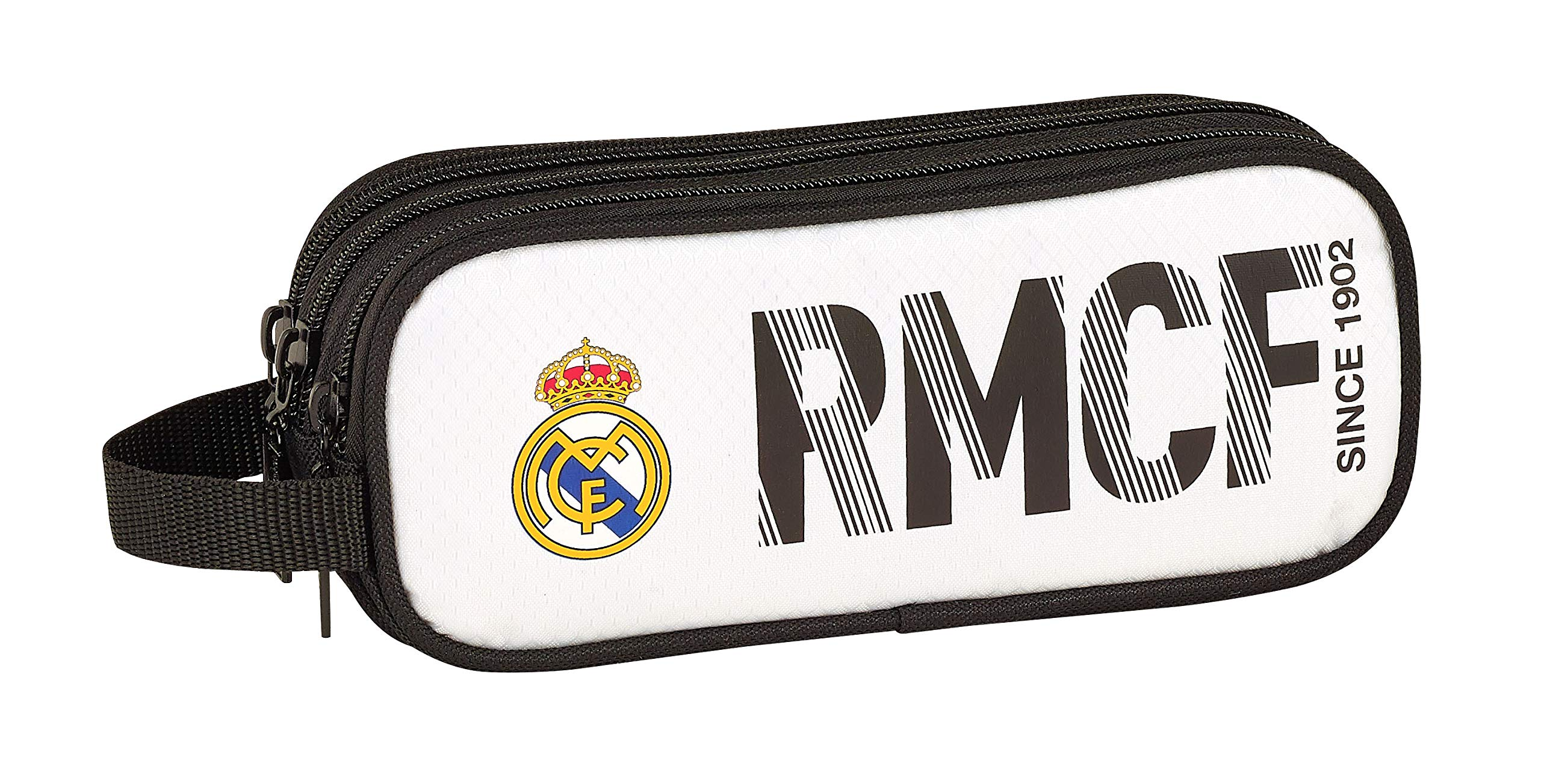 Real Madrid 811854635 2018 Estuches 21 cm, Blanco