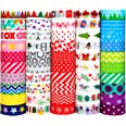 Washi Tape, Buluri 50 Rouleaux Washi Masking Tape Adhésif Ruban Adhésif pour Scrapbooking Artisanat de Bricolage (Washi Tapes