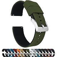Barton Elite Silicone Watch Bands - Quick Release - Choose Color - 18mm, 19mm, 20mm, 21mm, 22mm, 23mm & 24mm Watch…