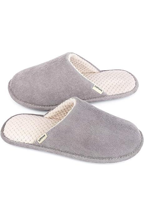 Damen Memory Foam Hausschuhe Wishcotton Womens Lightweight Slippers
