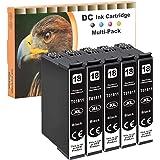 D&C Cartucce d'inchiostro Sostituzione per Epson 18 18 XL Compatibile con Epson Expression Home XP-322 XP-215 XP-205 XP-225 X