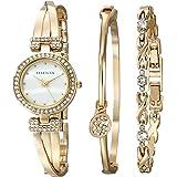 ساعة كوارتز للنساء بعرض انالوج وسوار من الستانلس ستيل من ان كلاين، AK-1868GBST