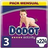 Dodot Baby Activity luiers maat 3 (6-10 kg), 224 luiers met vaste pasvorm