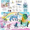 SUNACE Juego de Arte Manualidades para Niños - Regalos para Niñas Unicornios y Kit de Pintura con Pinceles Colores Tapete Uni