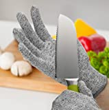 WIDEWINGS Knife Cut Resistant Level 5 Protection High Performance Safety Kitchen Cuts Gloves for Cutting, Slicing and…