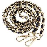 BESTOYARD Borse Borse a tracolla in catena con catene in metallo Borse a tracolla Accessori di ricambio con fibbie (nero oro)