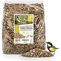 Rêve d'Oiseau - Graines pour Oiseaux Sauvages sans Blé [5kg] I Nourriture Vivaces pour Oiseaux I Graine Oiseaux…