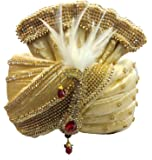 J.tushar safa/Turban/pagdi for Men Golden Color Dulha Marriage pagdi for Bridegroom.
