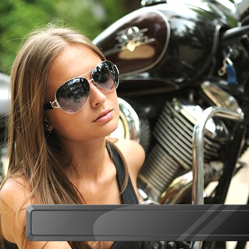 Motorrad Bilderrahmen -