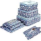 7 Set Sistema di Cubo di Viaggio - 3 Cubi di Imballaggio + 3 Sacchetti Borsa+ 1 Borsa portascarpe - Perfetto di Viaggio Dei B