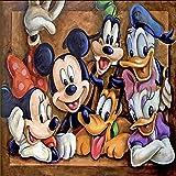 Kits de pintura de diamantes DIY 5D, Disney Mickey Mouse y Donald Duck Crystal Rhinestone Embroidery Arts Craft para la decor