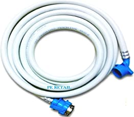 Classic Peretail Washing Machine Inlet Hose Pipe For Fully Automatic - White (5 Meter)