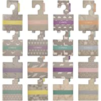 Belo + Me Wardrobe Dividers | Pack of 16 | Grey Patterns | Double-Sided Wardrobe Hangers | Fits All Standard Nursery Rails (Grey)