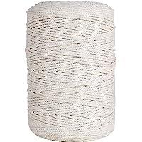 GoMaihe Makramee Garn 3mm x 260m, Baumwollgarn Baumwollkordel Baumwollseil, Macrame Garn für DIY Handwerk Basteln Boho…