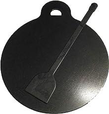 HARISH Traditional Iron Made DOSA KALLU/TAWA (Flat Base/Design) PRE- Seasoned -11 inch and an DOSA Turner AS Compliment - Light Weight - 1.2 KG