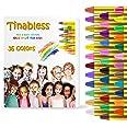 HENMI Pinturas Cara para Niños Seguridad no tóxica Pintura Facial, 36 Colores Crayons de Pintura Ajuste Halloween, Fiestas, S