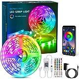 Bonve Pet LED Strip, Bluetooth RGB LED Streifen, Farbwechsel LED Lichterkette 6M mit Steuerbar via App, 16 Mio. Farben, Fernb