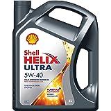 Shell - Helix Ultra 5W-40, Huile de Moteur Entièrement Synthétique - 5 Litres