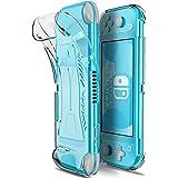 MAKACTUA Coque de Protection Nintendo Switch Lite, Transparent Coque de Protection en TPU Étui Accessoire Portable avec Conso