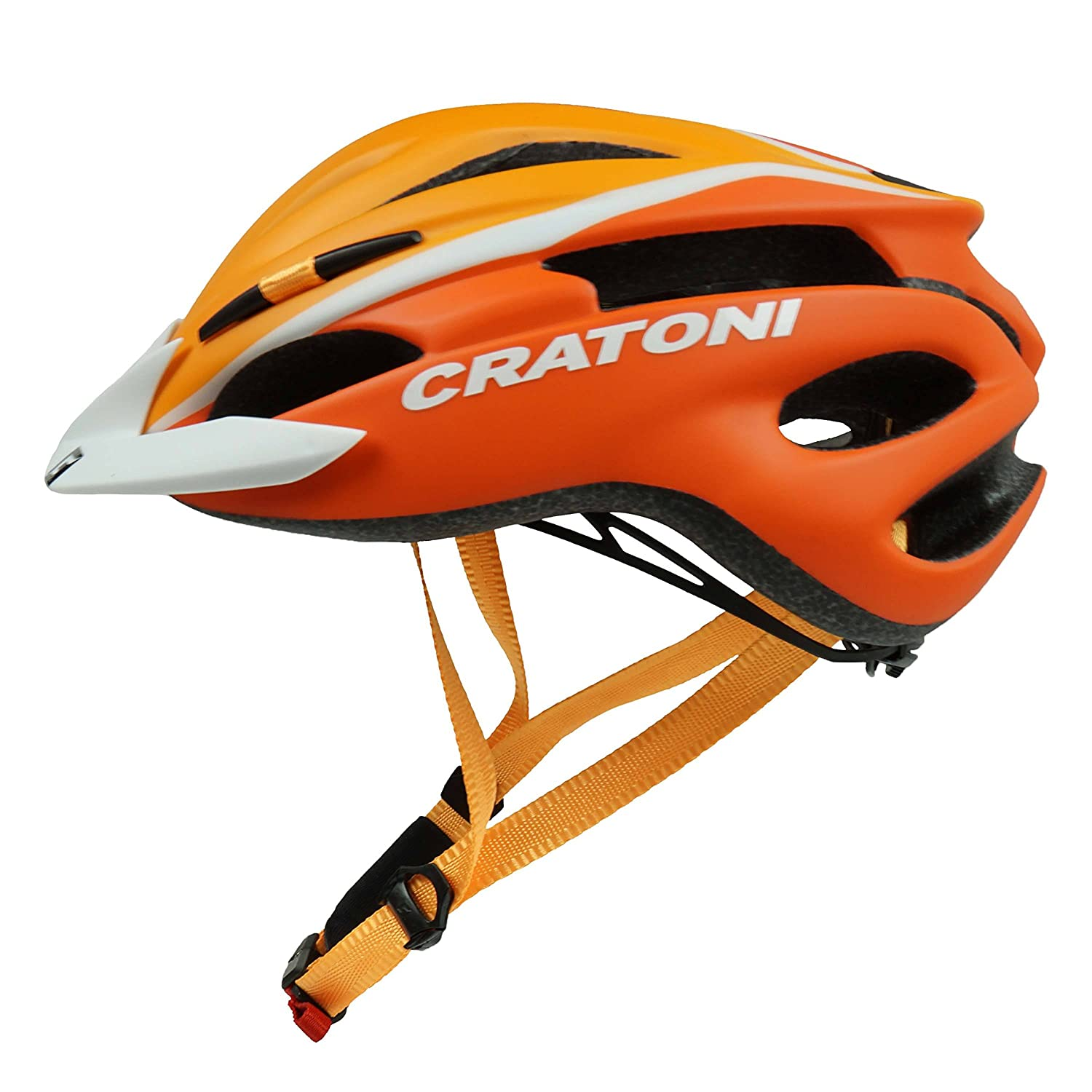 Cratoni Pacer Kinderhelm Fahrradhelm orange white mat Amazon Sport & Freizeit