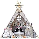Izabell Barn Teepee set för barn inomhus utomhus leksakstält med fönster Teepee med tillbehör