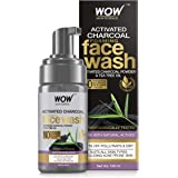 WOW Skin Science Activated Charcoal Foaming Face Wash - with Activated Charcoal Powder & Tea Tree Oil - Helps Lift Off Pollut