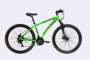 Hercules Roadeo Hank 27.5T 21 Gear Steel Hybrid Cycle (Neon Green) 17inch Frame