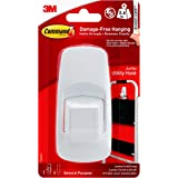 Command 17004 Jumbo Hook with Strips - White, Pack of 1