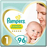 Couches Pampers Taille 1 (2kg-5kg) - Premium Protection, 96 Couches