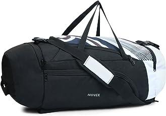 Novex Fusion 60 L Travel bag Black and White Rucksack