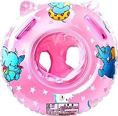 StillCool Salvagente Neonato Anello Salvagente Regolabile e Gonfiabile, Anello di Nuoto per le Barche e per I Bambini, Neonati Baby (Rosa)
