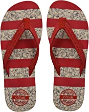 eNaR Women's Red Color Thong-Style Slippers/Flip Flops