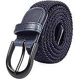 Mile High Life Cinturones elásticos trenzados Hebilla ovalada de cinturón sólido Punta de PU