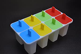 Mk Summer Special 8 Pcs Ice Cream Candy Kulfi Maker Popsicle Mould Set (Multicolor)
