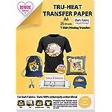 TransOurDream Tru-Transfer Paper - Inkjet Heat Transfer Paper Iron On Transfer Paper for Dark T Shirts &Fabrics NO Peeling NO