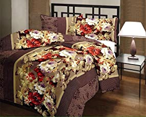 Style Seven Beautiful Brown Multi Floral Reversible Single Bed AC Blanket/Dohar/ Quilt (Size 5 x 7 Feet) 1 Pc Set