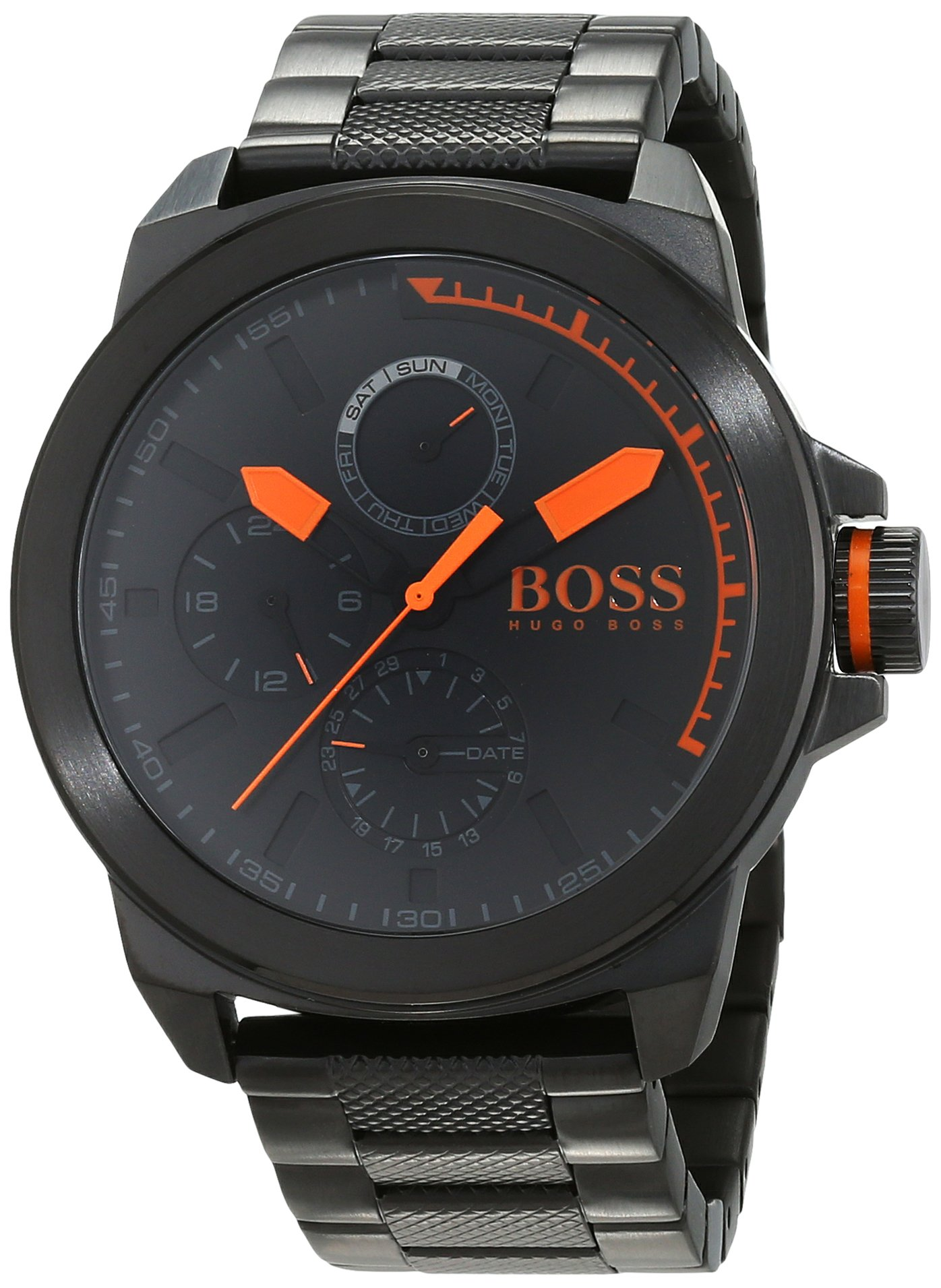 Hugo Boss Orange Herren Analog Quarz Armbanduhr mit Edelstahlarmband