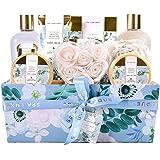 Spa Luxetique Coffret Cadeau pour Femme, Coffret de Bain et de Soins,12Pcs Coffret soin beaute Parfum de Jasmin, Bain Moussan