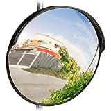 Relaxdays 10028416_46 Specchio Convesso 45 cm,Resistente a Intemperie,Infrangibile,per Esterni & Interni,incl. Supporto…