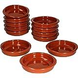 MamboCat Cazuela - Lot de 12 bols en céramique - Diamètre : 12 cm - Taille S - Émaillés - Unique - Fait à la main - Style ant