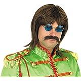Fun Shack Marrón Estrella del Pop De Los 60 Peluca para Hombres y Mujeres