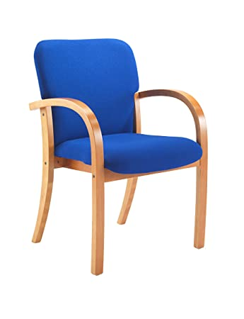 Office Hippo Heavy Duty Wood Framed Stackable Visitor Chair With Arms,  Pre Assembled