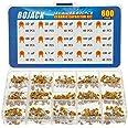 BOJACK 15 värden 600 st keramisk kondensator sortiment kit kondensatorer från 10 pf till 100 nF i en låda