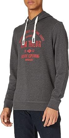 TOM TAILOR Men's Logo-print Hoodie Sweatshirt