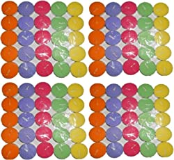 MADHULICA CANDLES Multicolour Scented SMOKELESS Tea Light Candle Pack of 50PCS