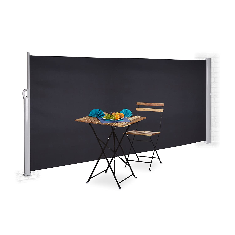 Amazon Relaxdays Seitenmarkise ausziehbar für Balkon & Garten
